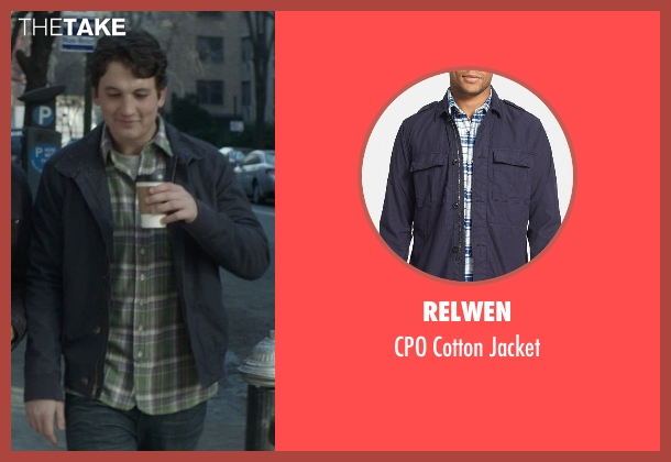 Relwen blue jacket from That Awkward Moment seen with Miles Teller (Daniel)