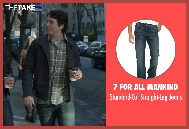 7 For All Mankind blue jeans from That Awkward Moment seen with Miles Teller (Daniel)