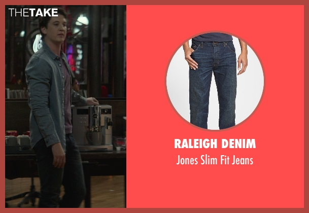Raleigh Denim blue jeans from That Awkward Moment seen with Miles Teller (Daniel)