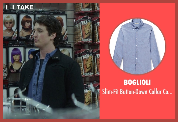 Boglioli blue shirt from That Awkward Moment seen with Miles Teller (Daniel)