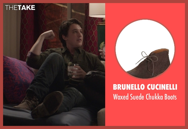 Brunello Cucinelli	 brown boots from That Awkward Moment seen with Miles Teller (Daniel)