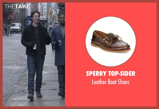 Sperry Top-Sider brown shoes from That Awkward Moment seen with Miles Teller (Daniel)