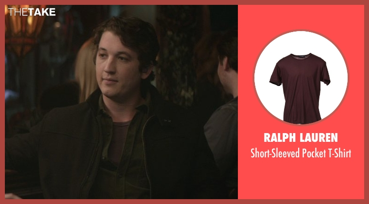 Ralph Lauren brown t-shirt from That Awkward Moment seen with Miles Teller (Daniel)