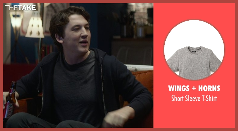 Wings + Horns gray t-shirt from That Awkward Moment seen with Miles Teller (Daniel)