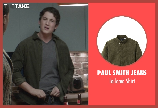 Paul Smith Jeans green shirt from That Awkward Moment seen with Miles Teller (Daniel)
