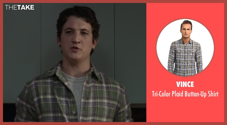 Vince green shirt from That Awkward Moment seen with Miles Teller (Daniel)