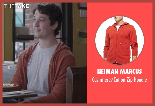 Neiman Marcus orange hoodie from That Awkward Moment seen with Miles Teller (Daniel)