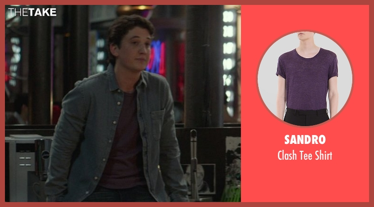 Sandro purple shirt from That Awkward Moment seen with Miles Teller (Daniel)