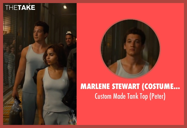 Marlene Stewart (Costume Designer) white top from The Divergent Series: Allegiant seen with Miles Teller (Peter)