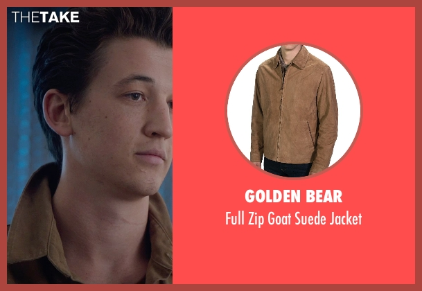 Golden Bear brown jacket from The Divergent Series: Insurgent seen with Miles Teller (Peter)