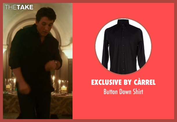 Exclusive By Càrrel black shirt from War Dogs seen with Miles Teller (David Packouz)