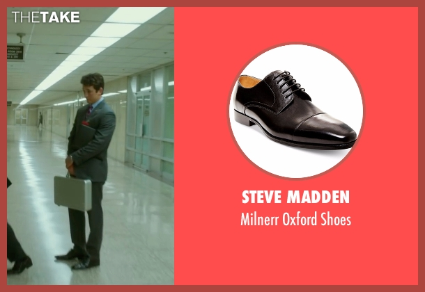 Steve Madden black shoes from War Dogs seen with Miles Teller (David Packouz)