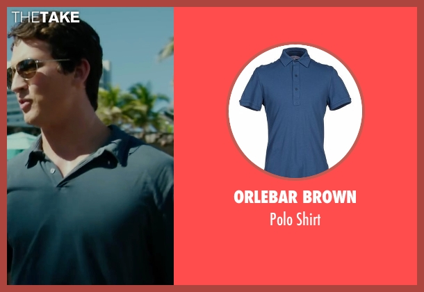 Orlebar Brown blue shirt from War Dogs seen with Miles Teller (David Packouz)