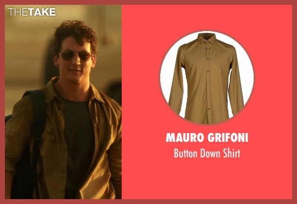 Mauro Grifoni brown shirt from War Dogs seen with Miles Teller (David Packouz)