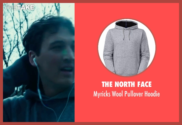 The North Face gray hoodie from War Dogs seen with Miles Teller (David Packouz)