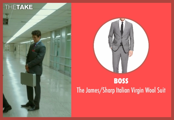 Boss gray suit from War Dogs seen with Miles Teller (David Packouz)