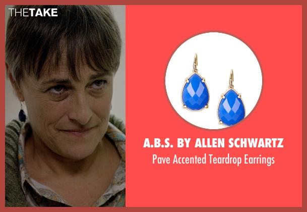 A.B.S. By Allen Schwartz blue earrings from Captive seen with Mimi Rogers (Kim Rogers)