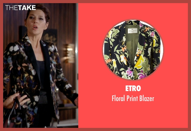 Etro black blazer from Empire seen with Mimi Whiteman (Marisa Tomei)