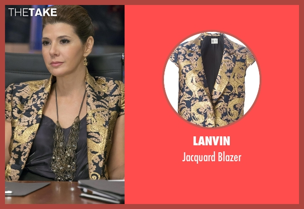 Lanvin gold blazer from Empire seen with Mimi Whiteman (Marisa Tomei)