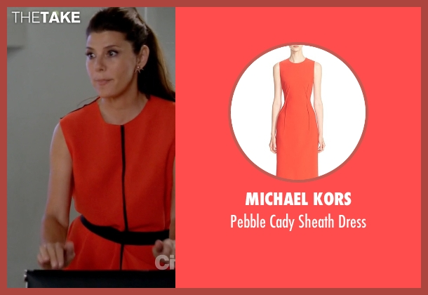Michael Kors orange dress from Empire seen with Mimi Whiteman (Marisa Tomei)