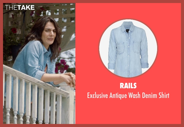 Rails blue shirt from And So It Goes seen with Mina Mirkhah (Paramedic)