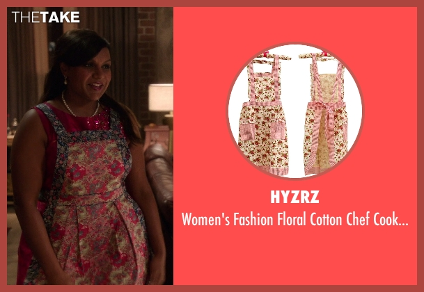Hyzrz apron from The Mindy Project seen with Mindy Lahiri (Mindy Kaling)
