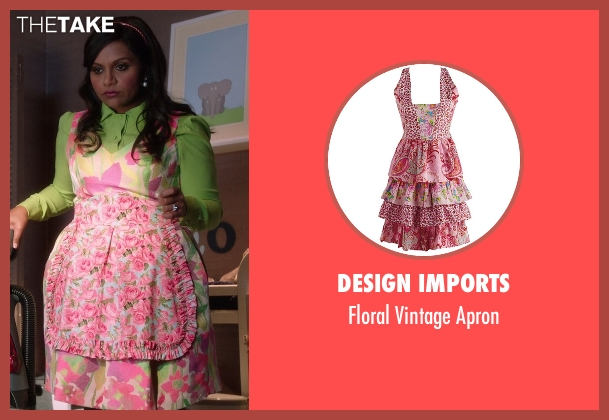 Design Imports apron from The Mindy Project seen with Mindy Lahiri (Mindy Kaling)