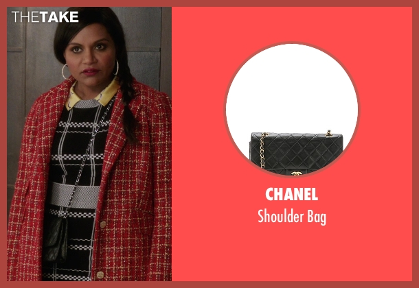 Chanel black bag from The Mindy Project seen with Mindy Lahiri (Mindy Kaling)