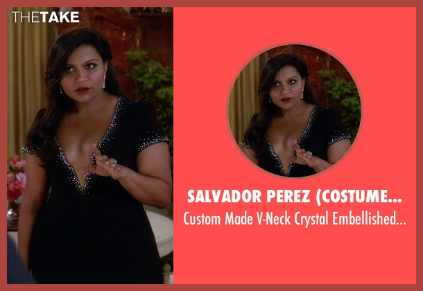 Salvador Perez (Costume Desinger) black dress from The Mindy Project seen with Mindy Lahiri (Mindy Kaling)