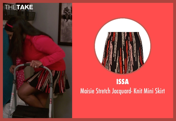 Issa black skirt from The Mindy Project seen with Mindy Lahiri (Mindy Kaling)