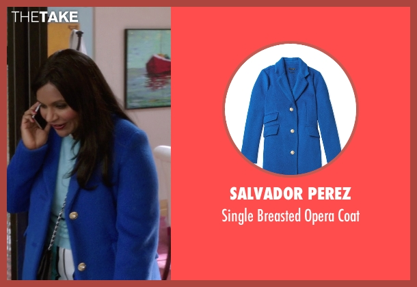 Salvador Perez blue coat from The Mindy Project seen with Mindy Lahiri (Mindy Kaling)