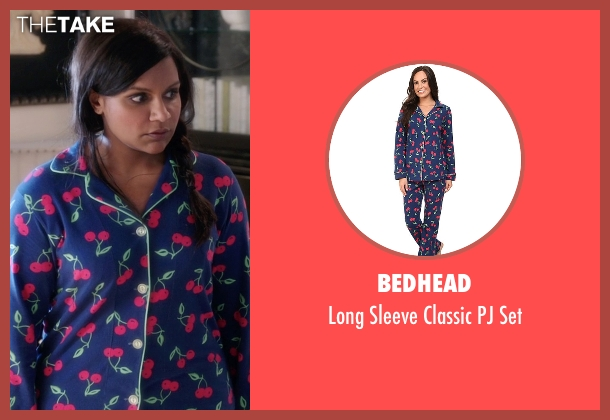 BedHead blue set from The Mindy Project seen with Mindy Lahiri (Mindy Kaling)