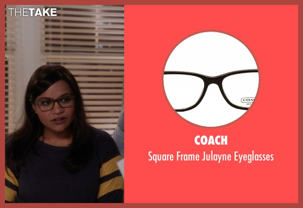 Coach brown eyeglasses from The Mindy Project seen with Mindy Lahiri (Mindy Kaling)
