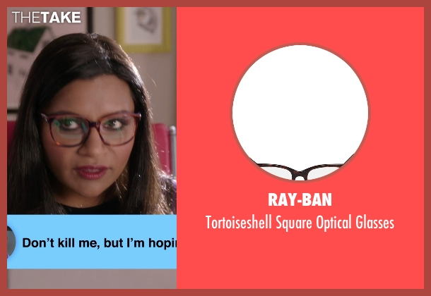 Ray-Ban brown glasses from The Mindy Project seen with Mindy Lahiri (Mindy Kaling)