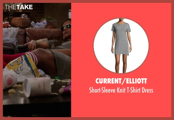 Current/Elliott gray dress from The Mindy Project seen with Mindy Lahiri (Mindy Kaling)