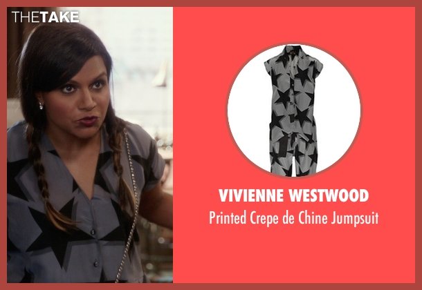 Vivienne Westwood gray jumpsuit from The Mindy Project seen with Mindy Lahiri (Mindy Kaling)