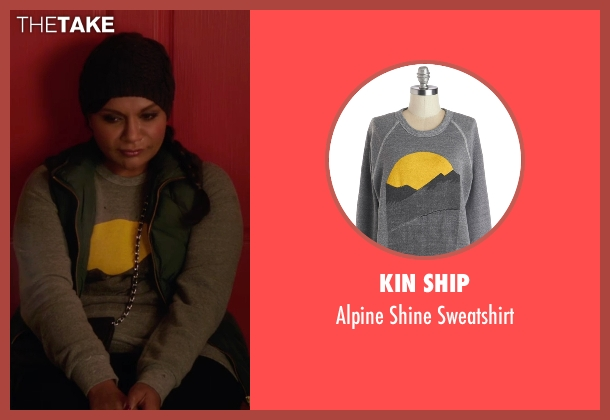 Kin Ship gray sweatshirt from The Mindy Project seen with Mindy Lahiri (Mindy Kaling)