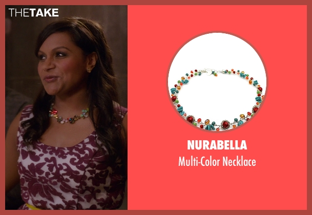 NuraBella necklace from The Mindy Project seen with Mindy Lahiri (Mindy Kaling)
