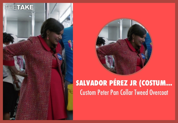 Salvador Pérez Jr (Costume Designer) overcoat from The Mindy Project seen with Mindy Lahiri (Mindy Kaling)