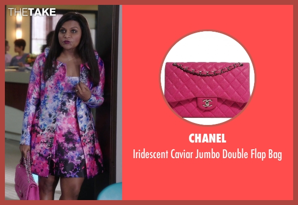 Chanel pink bag from The Mindy Project seen with Mindy Lahiri (Mindy Kaling)