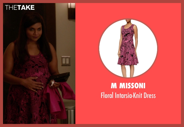 M Missoni pink dress from The Mindy Project seen with Mindy Lahiri (Mindy Kaling)