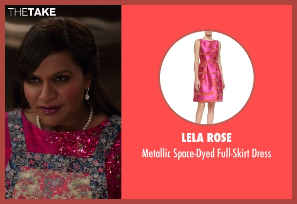 Lela Rose pink dress from The Mindy Project seen with Mindy Lahiri (Mindy Kaling)