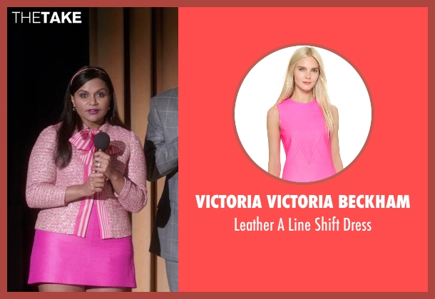 Victoria Victoria Beckham pink dress from The Mindy Project seen with Mindy Lahiri (Mindy Kaling)