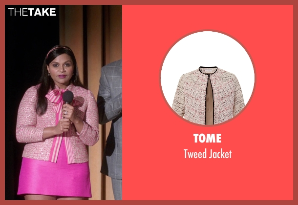Tome pink jacket from The Mindy Project seen with Mindy Lahiri (Mindy Kaling)