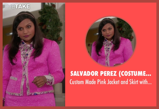 Salvador Perez (Costume Designer) pink shirt from The Mindy Project seen with Mindy Lahiri (Mindy Kaling)