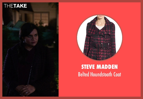 Steve Madden purple coat from The Mindy Project seen with Mindy Lahiri (Mindy Kaling)