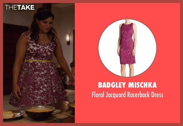 Badgley Mischka purple dress from The Mindy Project seen with Mindy Lahiri (Mindy Kaling)