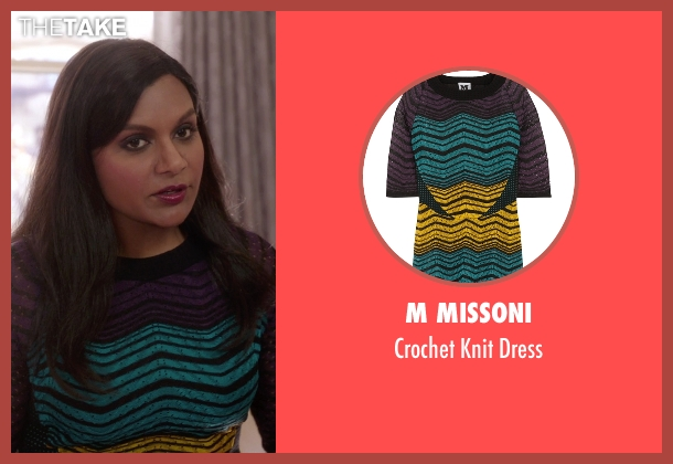 M Missoni purple dress from The Mindy Project seen with Mindy Lahiri (Mindy Kaling)