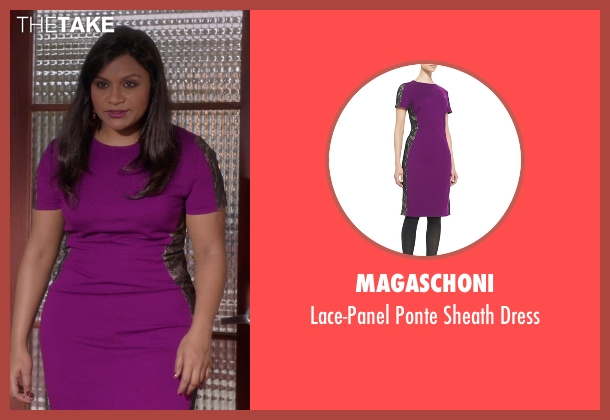 Magaschoni	 purple dress from The Mindy Project seen with Mindy Lahiri (Mindy Kaling)