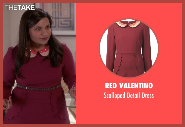 Red Valentino red dress from The Mindy Project seen with Mindy Lahiri (Mindy Kaling)